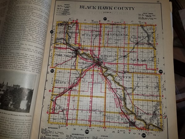 1912 map of Black Hawk County. We have grown a little