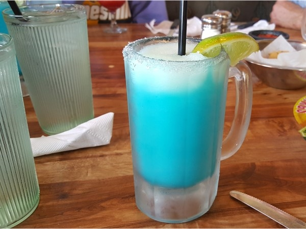 Blue Raspberry Margarita at Carlos Okelleys. Yum