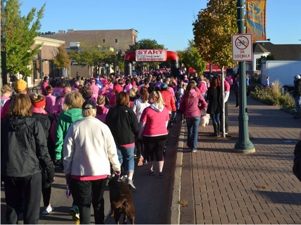 10th annual Pink Ribbon Run is on Oct 1st at 8:00 a.m. at the Community Center, Downtown Cedar Falls