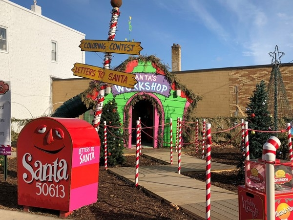 Santa's Workshop in Downtown Cedar Falls. A Holiday Hoopla favorite for the kiddos at Christmas