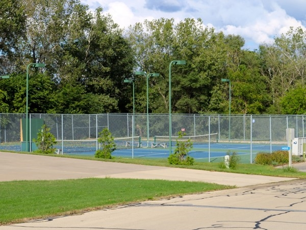 Tennis courts at Barrington Lakes Subdivision