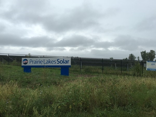 Prairie Lakes Solar, producing renewable energy from the sun