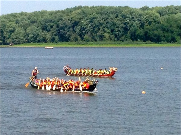 Dragon Boat Races on the Mississippi River