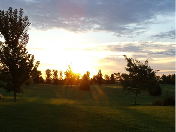 I love watching the sunrise on the golf course in Dike