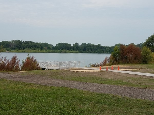 Big Woods Lake sports a new handicap accessible dock. The new dock is a great feature to the camp