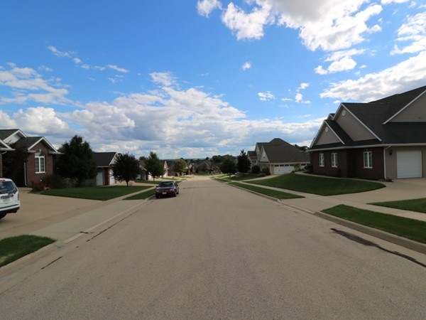 Street view of Harvest View Estates homes