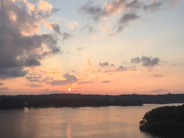 Welcome home to Dubuque and an awesome sunset