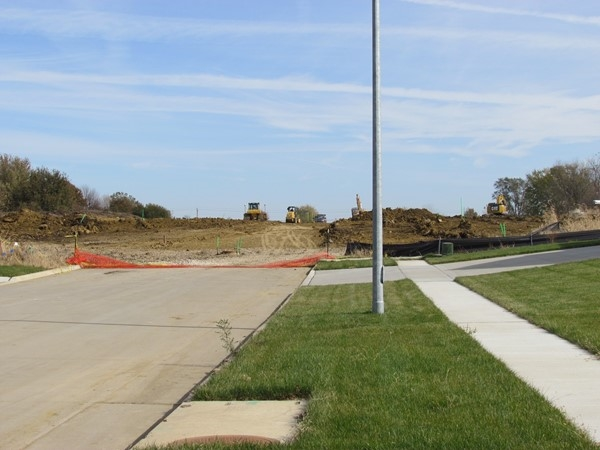 New streets going in on Prairie West Addition in Cedar Falls