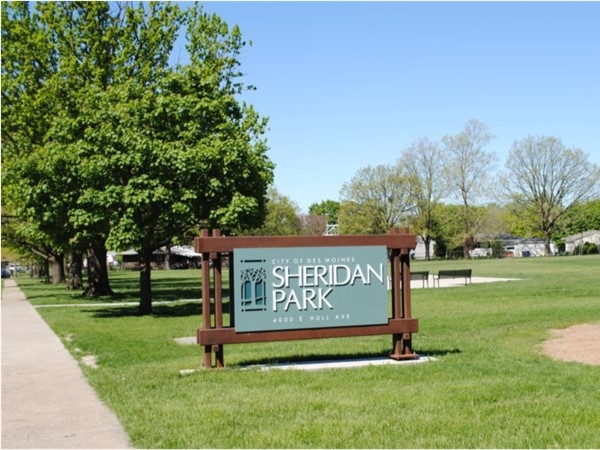 Sheridan Park is located on the eastern side of Des Moines