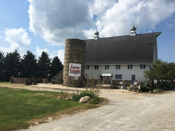Barn Happy located in Cedar Falls where you can experience a slice of Iowa