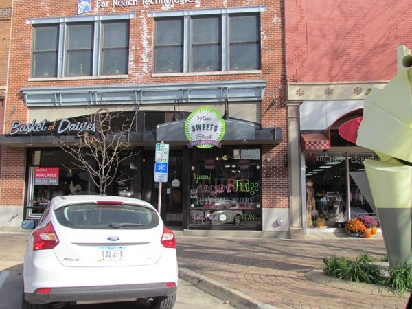 Great gift ideas at Main Street Sweets and Basket of Daisies in Downtown Cedar Falls