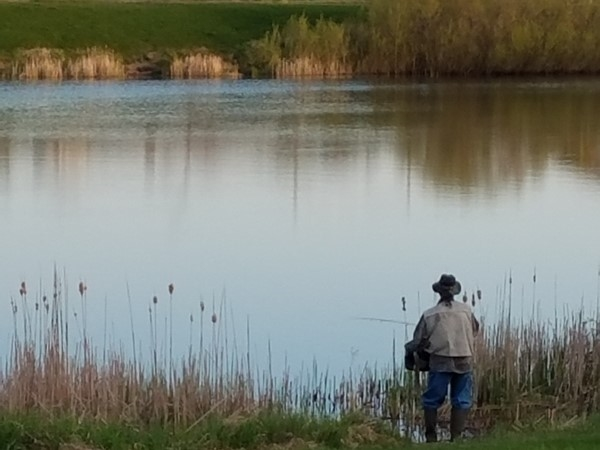Calm morning fishing at Prairie Lakes Park