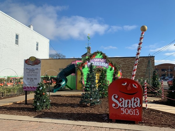 Don't forget to mail your letter to Santa! Downtown Cedar Falls is the place